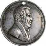1829 Andrew Jackson Indian Peace Medal. Third Size. Julian IP-16, Prucha-43. Silver. About Uncircula