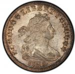 1798 Draped Bust Dime. Small 8. John Reich-3. Rarity-5. Mint State-65 (PCGS). PCGS Population:
