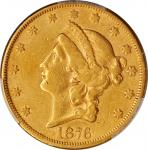 1876-CC Liberty Head Double Eagle. VF Details--Altered Surfaces (PCGS).