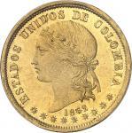 COLOMBIE Colombie (États-Unis de) (1863-1886). 20 pesos 1862, Bogota.