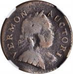 1788 Vermont Copper. RR-17, Bressett 14-S, W-2125. Rarity-4. Bust Right. VG Details, Bent (NGC).