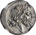 ANONYMOUS. AR Victoriatus (3.28 gms), Luceria Mint, 211-210 B.C. NGC Ch AU, Strike: 5/5 Surface: 4/5