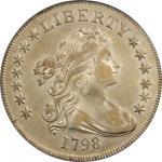 1798 Draped Bust Silver Dollar. Small Eagle. BB-82, B-1. Rarity-3. 13 Stars. EF-40 (PCGS).