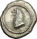 Etruscan Coins, Etruria, Populonia. AR Drachm, 5th century BC. Vecchi EC I, 5.2 (O1), HN Italy 114,