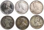 1901-1927年英属海峡殖民地2毫6枚,1919年EF品相,其馀F至VF,1903年罕见