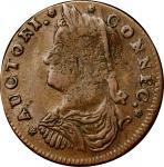 1787 Connecticut Copper. Miller 32.3-X.4, W-3235. Rarity-2. Draped Bust Left. EF-45 (PCGS).