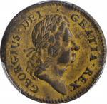 1723 Rosa Americana Penny. Martin 2.6-Eb.2, W-1278. Rarity-4. AU-58 (PCGS).