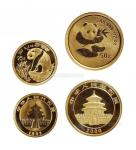 1993年、2000年熊猫纪念金币共2枚 完未流通