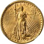 1922 Saint-Gaudens Double Eagle. MS-62 (NGC).