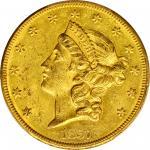 1857-O自由帽双鹰金币 PCGS MS 60