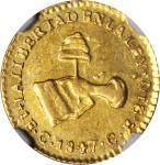 MEXICO. Escudo, 1847-C CE. Culiacan Mint. NGC AU-58.