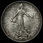 FRANCE 3rd Rep 第三共和政(1870~1940) 2Francs 1909 返品不可 要下见 Sold as is No returns トーン EF+