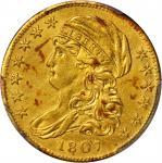 1807 Capped Bust Left Half Eagle. BD-8. Rarity-2. AU Details--Surfaces Smoothed (PCGS).