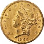 1855-S Liberty Head Double Eagle. AU-55 (PCGS). CAC.