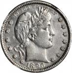 1896-S Barber Quarter. AU Details--Improperly Cleaned (NGC).