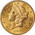 1900-S Liberty Head Double Eagle. AU-58 (PCGS).