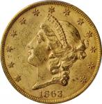 1863-S Liberty Head Double Eagle. MS-61 (PCGS).