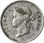 海峡殖民地1895年50分 STRAITS SETTLEMENTS. 50 Cents, 1895. Victoria. PCGS AU-50 Gold Shield.