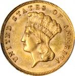 1879 Three-Dollar Gold Piece. MS-62 (PCGS).