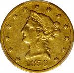 1850-O Liberty Head Eagle. VF Details--Polished (PCGS).