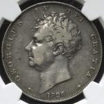 GREAT BRITAIN George IV ジョージ4世(1820~30) Crown 1826 NGC-PF20 Proof Fine