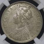 INDIA British India イギリス领インド Rupee 1875(b) NGC-AU58 EF+