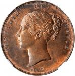 GREAT BRITAIN. Penny, 1857. London Mint. Victoria. NGC MS-65 Brown.