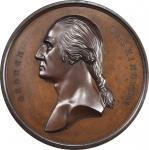 Circa 1857 Tomb of Washington medal by Smith and Hartmann. Musante GW-207, Baker-117A. Copper, Bronz