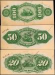 CANADA. Bank of Montreal. 4 to 100 Dollars, ND. CH #505-34-12. Back Die Proofs. About Uncirculated.