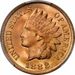 1888 Indian Cent. MS-66+ RD (PCGS).