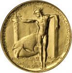 1915 Panama-Pacific International Exposition. Official Medal. Gilt. 38 mm. HK-401. Rarity-4. MS-65 (