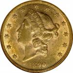 1890 Liberty Head Double Eagle. MS-61 (NGC).