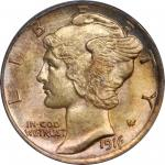 1916-D Mercury Dime. MS-65 FB (PCGS).