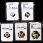 2006年熊猫纪念金币一组5枚 NGC MS