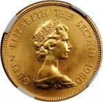 HONG KONG. 1,000 Dollars, 1980. NGC MS-67.