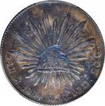 1884-Mo MH年墨西哥鹰洋壹圆银币。墨西哥城造币厂。 MEXICO. 8 Reales, 1884-Mo MH. Mexico City Mint. PCGS AU-50.