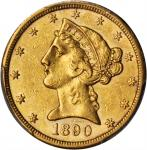 1890-CC Liberty Head Half Eagle. AU-55 (PCGS).