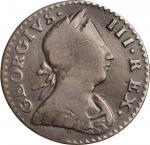 1776 Machins Mills Halfpenny. Vlack 6-76A, W-7790. Rarity-4. GEORGIVS III, Large Date. Fine-15 (PCGS