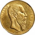 MEXICO. 20 Pesos, 1866-Mo. Mexico City Mint. Maximilian. NGC MS-62.