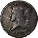 1793 Liberty Cap Half Cent. Head Left. C-4. Rarity-3. Fine-15 (PCGS).