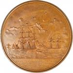 1854 Rescue of Martin Koszta/Commander Duncan Ingraham Medal. Original Large Size. Bronzed Copper. 1