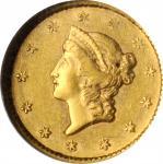 1854-S Gold Dollar. AU-58 (NGC).