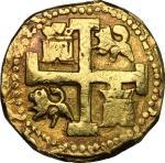 World Coins, Peru.  Philip V (1700-1746). 8 escudos 1743, Lima mint. Cal. 61. Fr. 7.  26.91 g.  28 m