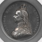 GREAT BRITAIN Victoria ヴィクトリア(1837~1901) AR Medal 1887 オリジナルケース付き with original case NGC-MS63 UNC