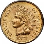 1877 Indian Cent. MS-64 RD (PCGS).