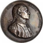 1779 (After 1880) John Paul Jones medal. Betts-568. Silver. Original dies, restrike. Paris Mint. 56.