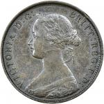 Victoria (1837-1901), Halfpenny, 1862, letter C, laureate and draped bust left, rev. Britannia seate