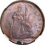 MEXICO. 1/8 Real, 1841-Mo. NGC MS-63 BN.