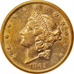 1862-S Liberty Head Double Eagle. AU-58 (NGC).