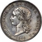 COLOMBIA. 1849 pattern 8 Pesos. Bogotá mint. Restrepo P76var. Silver. SP-61 (PCGS).